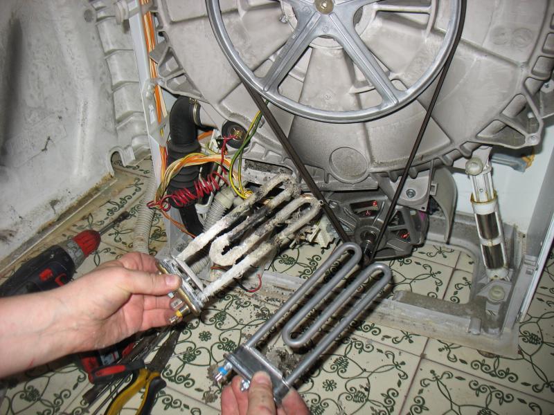Замена тэна стиральной машины аристон своими руками